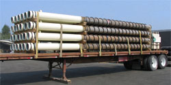 Thermo Helix-Piles loaded for shipment to Kotzebue, Alaska